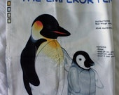 penguin plush panel - fabric destash