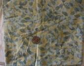1 yrd leafy batik - fabric destash