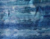 1 yrd blue batik - fabric destash