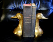Solid Brass Vintage Mallard Duck Bookends - Great Father's Day Gift