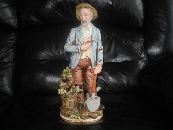 Homco Porcelain Old Man Figurine