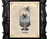 Octopus lovers - Octopus aquarium art print - dictionary antique octopus romantic print - custom wedding gift