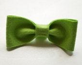Lime Handmade Felt Bow Tie