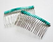 Green Ombre Hair Comb Set