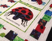 Ladybug quilt..mini security blanket
