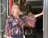 1970s boho wrap blouse