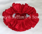 Red all around ruffle bloomers diaper cover skirt tutu for baby newborn infant toddler girl