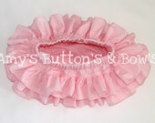 Pink all around ruffle bloomers diaper cover skirt tutu for baby newborn infant toddler girl