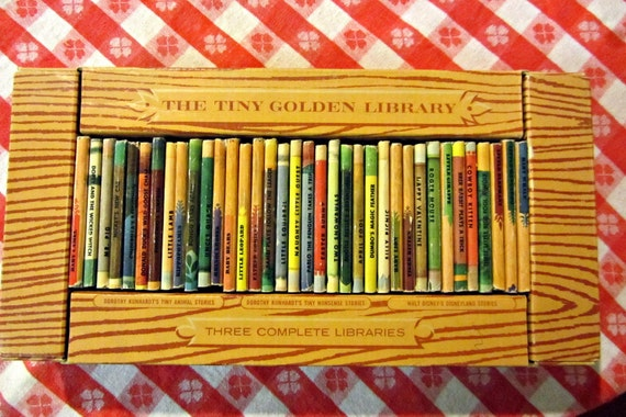 Vintage Tiny Golden Books Lot of 12 Animal Stories