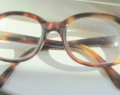 Vintage Tortoise Shell Style ConVan France Eyeglass Frames Eyewear - FREE SHIPPING in the USA