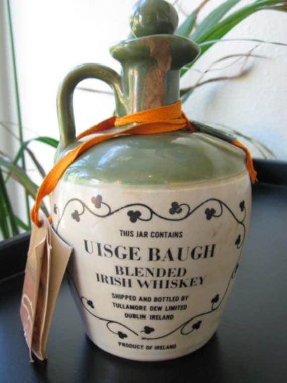Vintage Tullamore Dew Blended Irish Whiskey Ceramic Jug With