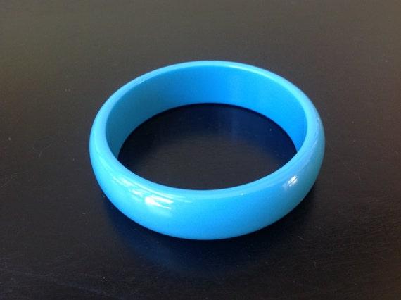 Darling Large Teal Blue Bangle Bracelet