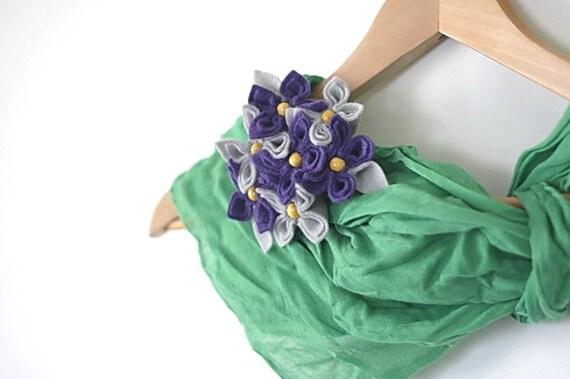 Felt Flower Bouquet Brooch