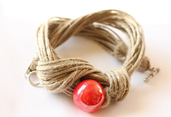 SALE Touch of Red Necklace