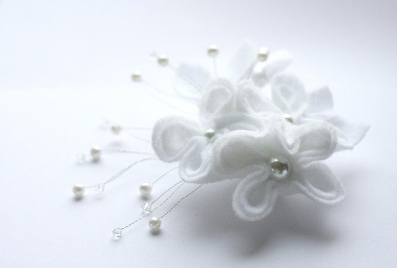 White Bridal Fascinator