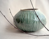RESERVED for Jesse -Textured Pod - decorative, textured porcelain bowl/vase.
