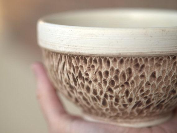 Small Rustic Porcelain Oatmeal Bowl