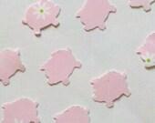 Pink Piggie Parade Die Cut Cut Outs