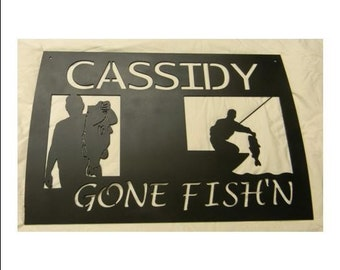 Gone Fish'n Sign Customized