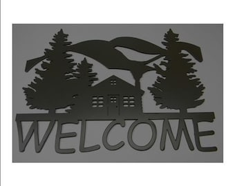 Welcome Sign - Cabin