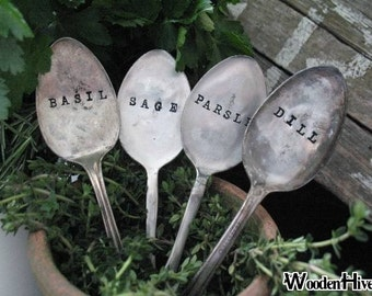 Vintage Silverware Garden Marker Set of Four