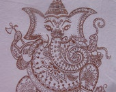 Soft Pink Ganesha Shirt - Women's L