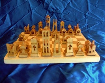 Olive & Sycamore Chess Set