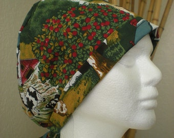 On the Farm - Tie-back Surgical Scrub Hat