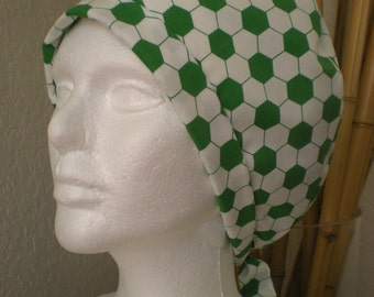 Tie-back Surgical Scrub Hat - Soccer