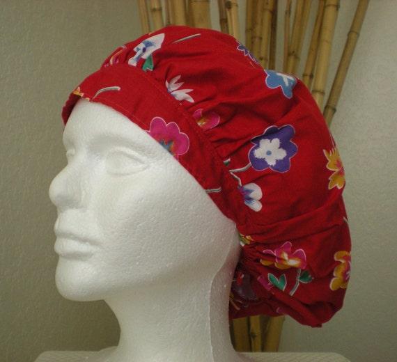 SALE - Floral Fantasy - Bouffant Tie-back Surgical Scrub Hat