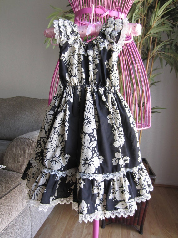 SIZE 5/6 - Black Floral - Toddler Girls Dress