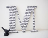 Fabric Letter M - Music Note