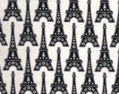 L Amour De La Vie in white,  Eiffel tower 2 yards fabric, timeless treasures fabric