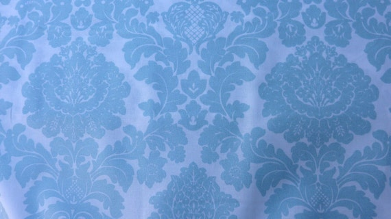 Rserved  Delovely Damask michael miller breeze blue color with metallic 3 yards