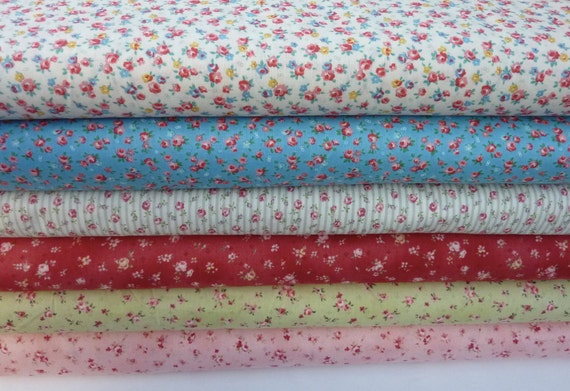 Tiny flower,roses mixed bundle,small roses  yards,fabric 6 yards, last one