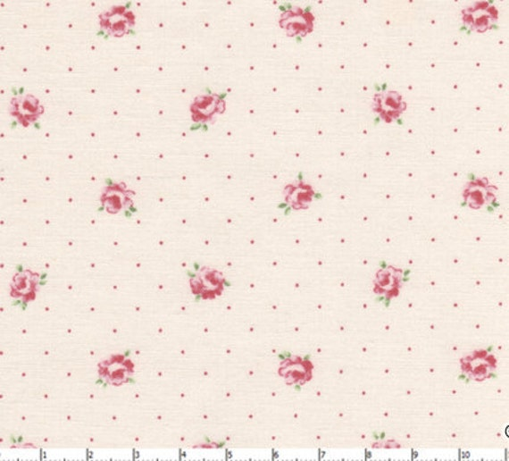Pink  tiny little  roses fabric 2 yards, french style design petit fleur fabric