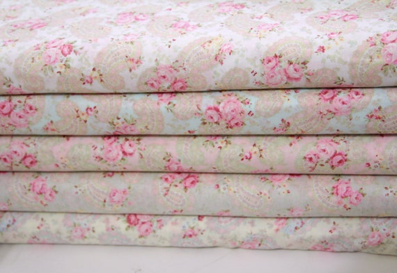 Durham Quilt Collection Anew  5 yards fabric ,Parsley rose five colors ,lecien fabric