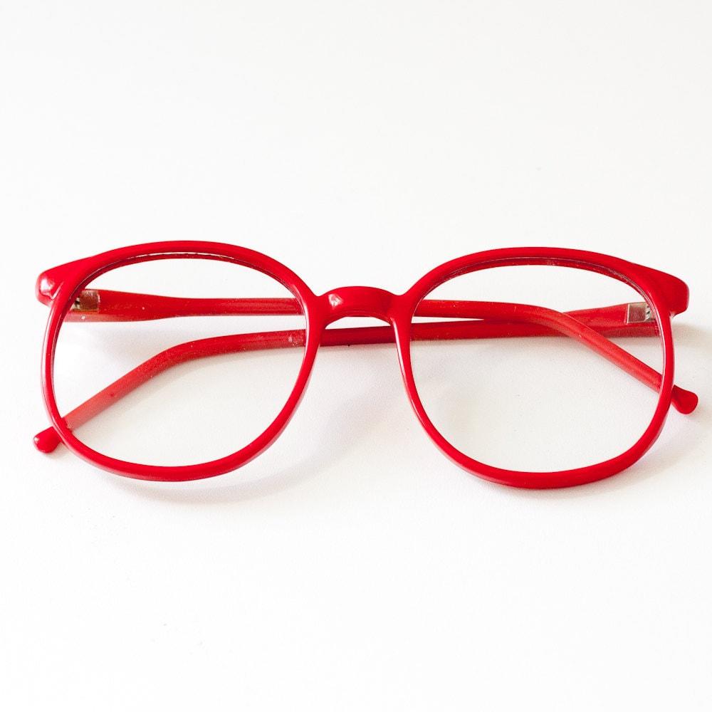 1980s oversized RED eyeglasses frames