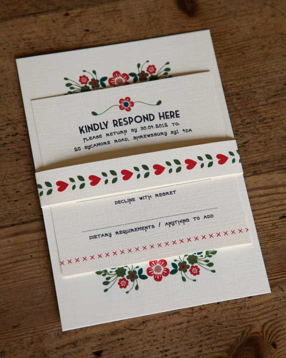 Items Similar To Wedding Invitation With RSVP Card, Belly