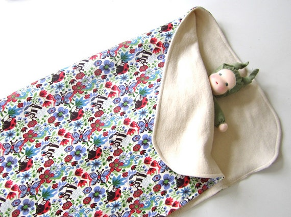 Baby blanket, organic, cotton, receiving blanket, eco friendly, natural, soft, floral, baby gift, shower gift, cosy, organic kids
