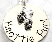 Roller Derby Necklace -  Roller Skate Charm - Hand Stamped Jewelry
