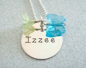 Hand Stamped Jewelry - Personalized Name Necklace - Sterling Silver