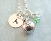 Soccer Necklace - Hand Stamped Jewelry - Sterling Silver