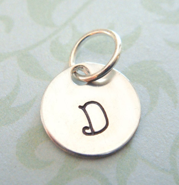 Hand stamped necklace personalized jewelry add on initial for How do you make hand stamped jewelry