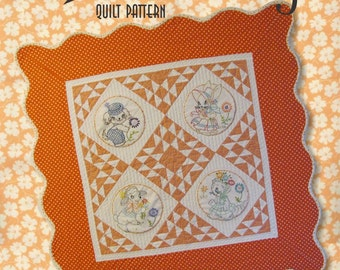 Adorable Retro Baby Quilt Pattern