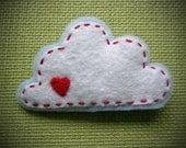 Cloud with a Heart Felt Pin