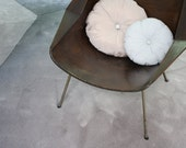 BITS & PIECES / delicate designer pouf / neutrals pastels / silky french rose