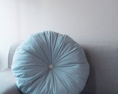 CREAM DONUT big / cuddly designer pouf / pastels / blue sky - detailF