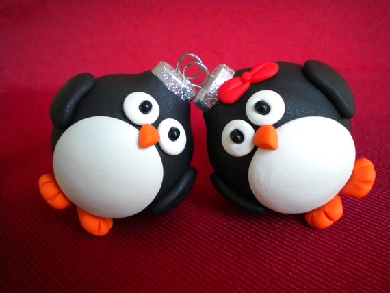 Penguin Christmas Ornaments / Photo Holders