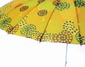 Vintage Umbrella in Yellow, Orange, and Green